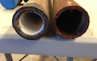 2″ cement lined pipe inspection